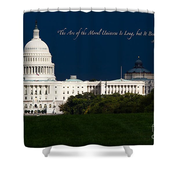 Martin Luther King Jr. Shower Curtain by Doug Sturgess