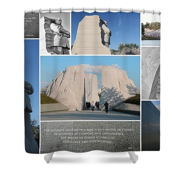 Martin Luther King Jr Memorial Collage 1 Shower Curtain by Allen Beatty