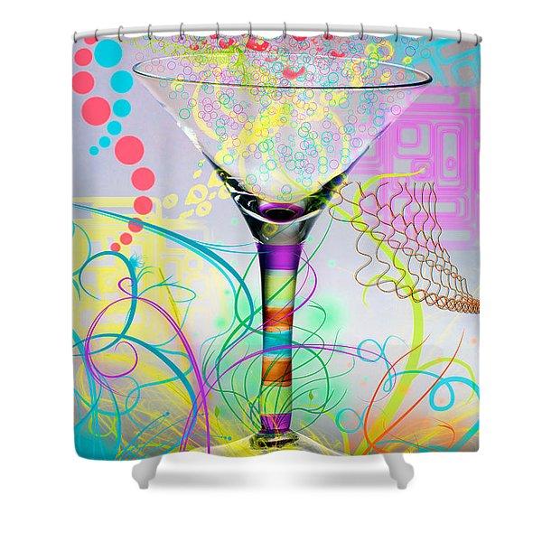 Martini Shower Curtain by Mauro Celotti