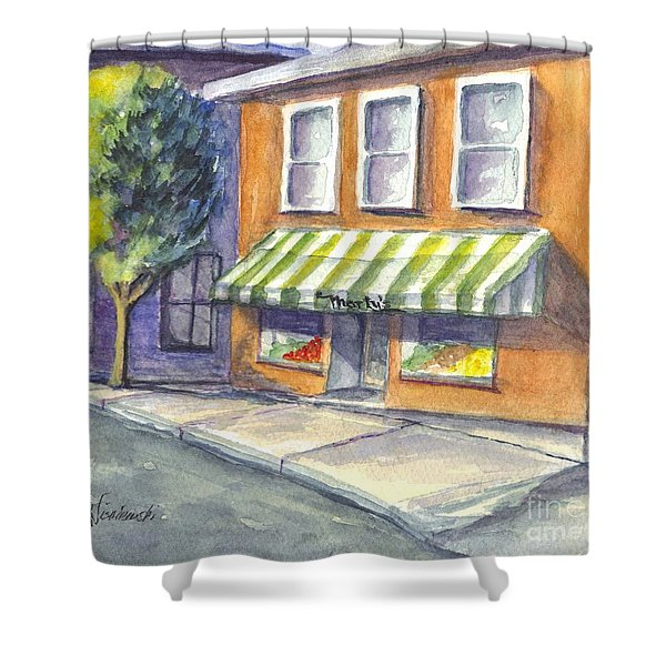 Marty's Market Shower Curtain by Carol Wisniewski