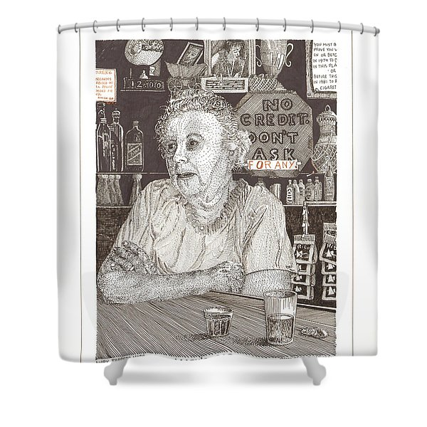 Marys Bar Cerrillos New Mexico Shower Curtain by Jack Pumphrey