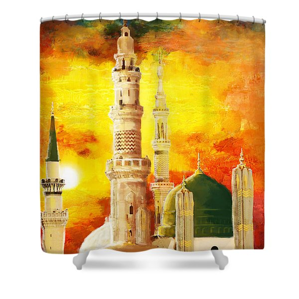 Masjid E Nabwi Shower Curtain by Catf