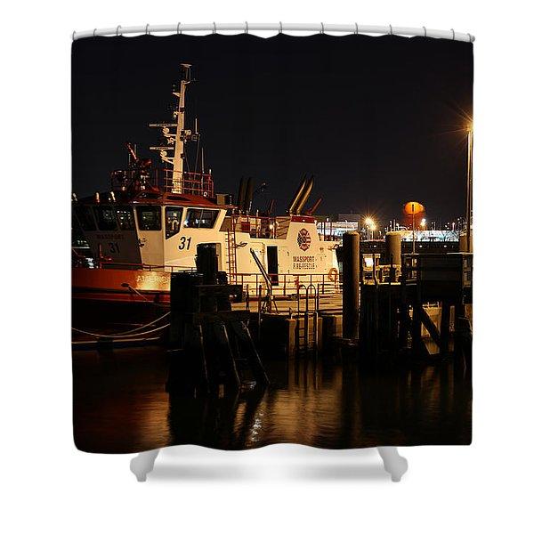 Massport Fire Rescue 31 Shower Curtain by Juergen Roth