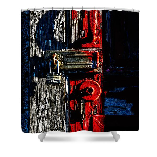 Master Of The Old Red Barn Shower Curtain by Bob Orsillo