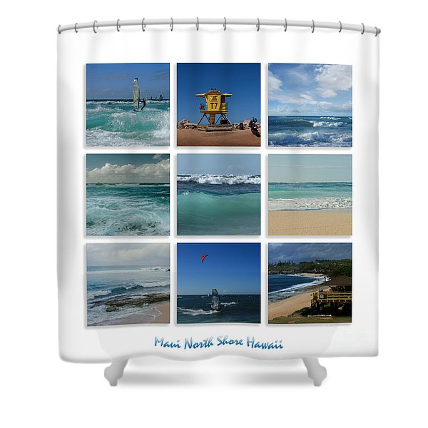 Maui North Shore Hawaii Shower Curtain by Sharon Mau