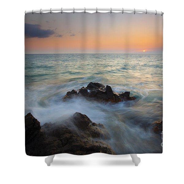 Maui Tidal Swirl Shower Curtain by Mike  Dawson