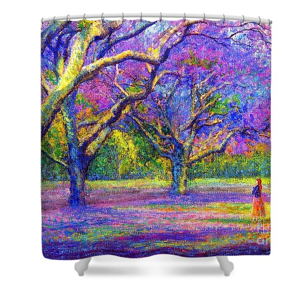 Mauve Majesty Shower Curtain by Jane Small