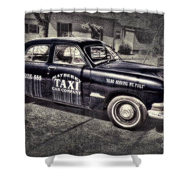 Mayberry Taxi Shower Curtain by David Arment
