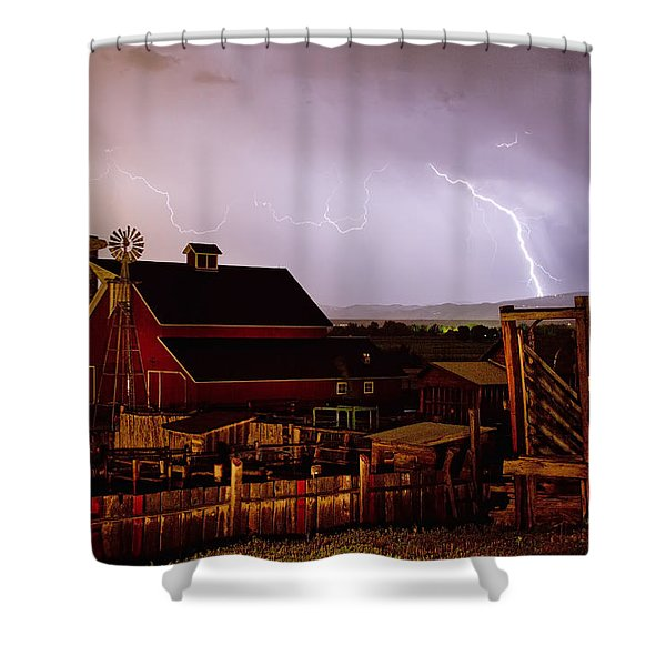 McIntosh Farm Lightning Thunderstorm Shower Curtain by James BO  Insogna