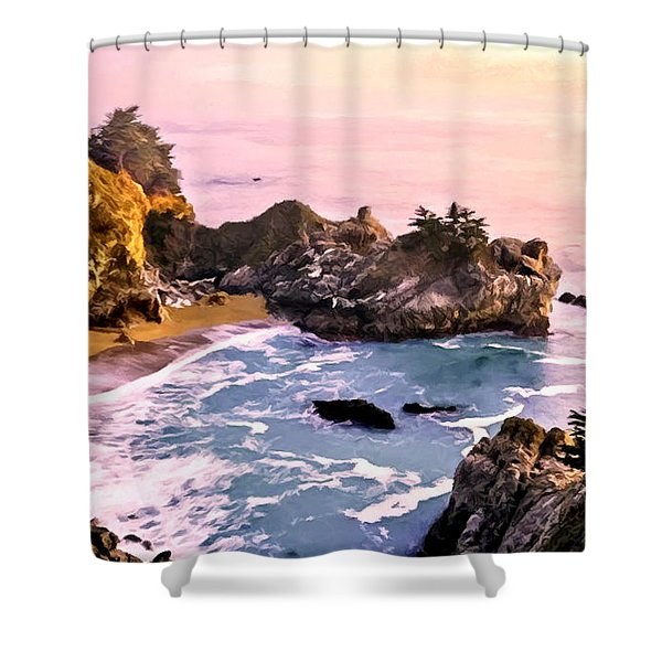 Mcway Falls Pacific Coast Shower Curtain by Bob and Nadine Johnston