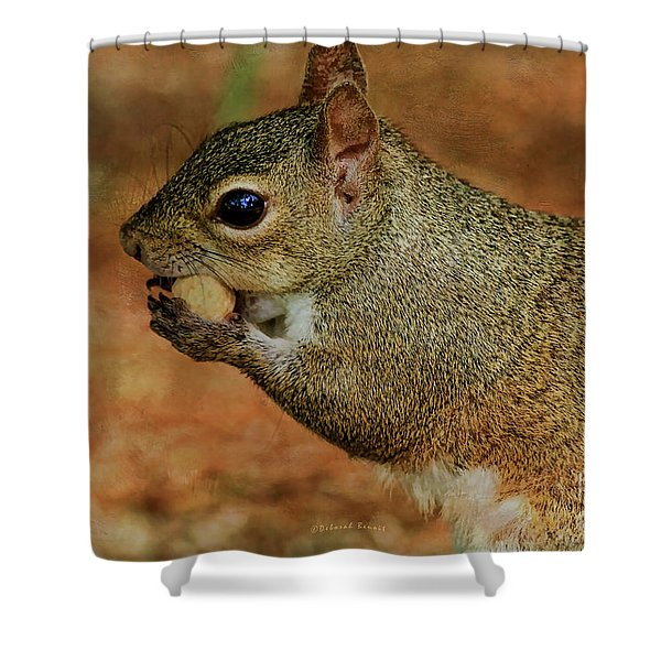 Me And My Peanut Shower Curtain by Deborah Benoit