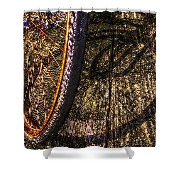 Me and my Shadow Shower Curtain by Debra and Dave Vanderlaan