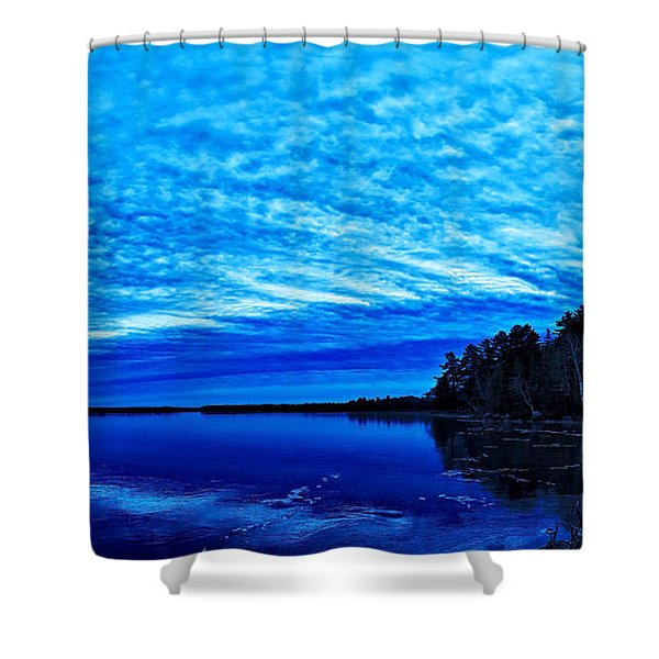 Meddybemps Blues 3 Shower Curtain by Bill Caldwell -        ABeautifulSky Photography
