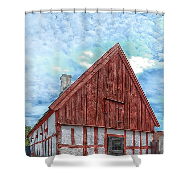 Medieval building Shower Curtain by Antony McAulay