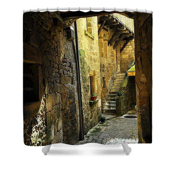 Medieval courtyard Shower Curtain by Elena Elisseeva