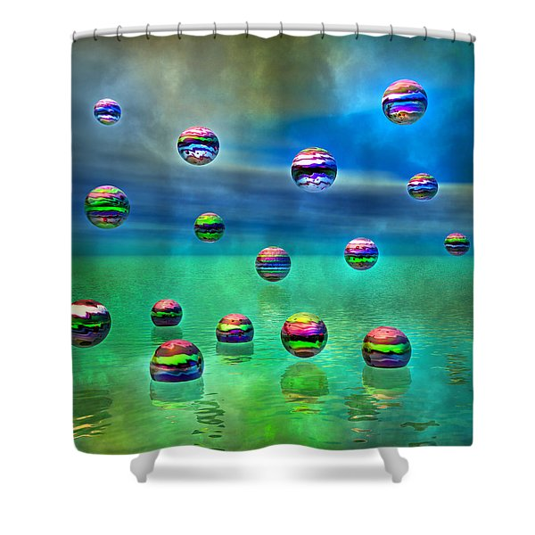 Meditative Pool Shower Curtain by Betsy C  Knapp