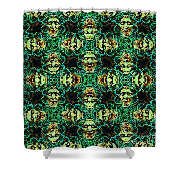 Medusa Abstract 20130131p38 Shower Curtain by Wingsdomain Art and Photography