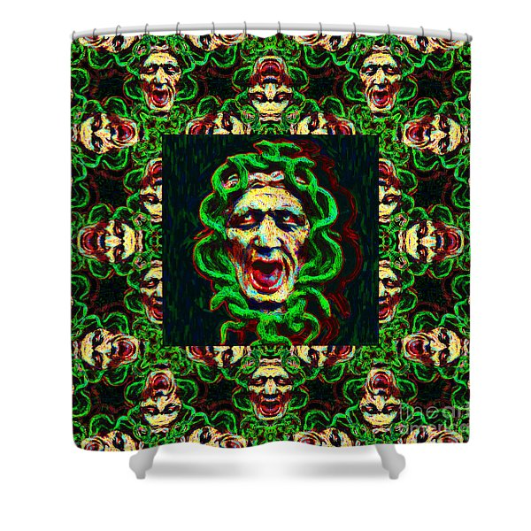 Medusa's Window 20130131p0 Shower Curtain by Wingsdomain Art and Photography