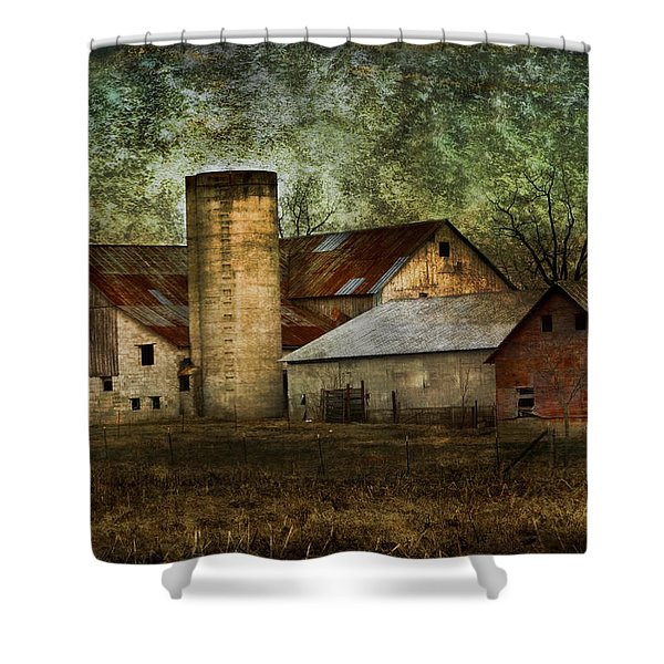 Mennonite Farm In Tennessee Usa Shower Curtain by Kathy Clark