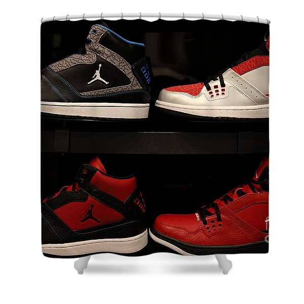 Men's Sports Shoes - 5D20653 Shower Curtain by Wingsdomain Art and Photography