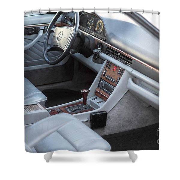 Mercedes 560 Sec Interior Shower Curtain by Gunter Nezhoda