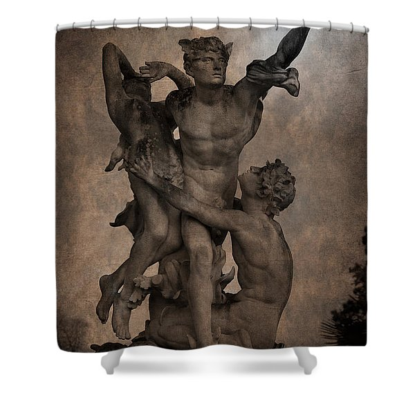 Mercury carrying Eurydice to the Underworld Shower Curtain by Loriental Photography