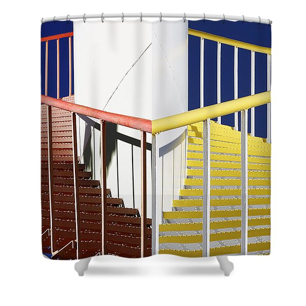 Merging Steps Shower Curtain by Robert Woodward