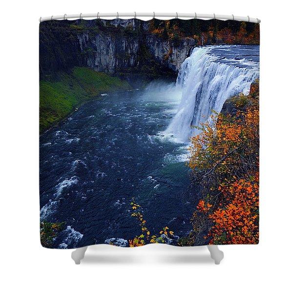 Mesa Falls Shower Curtain by Raymond Salani III