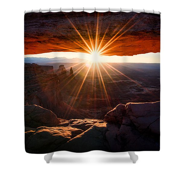 Mesa Glow Shower Curtain by Chad Dutson