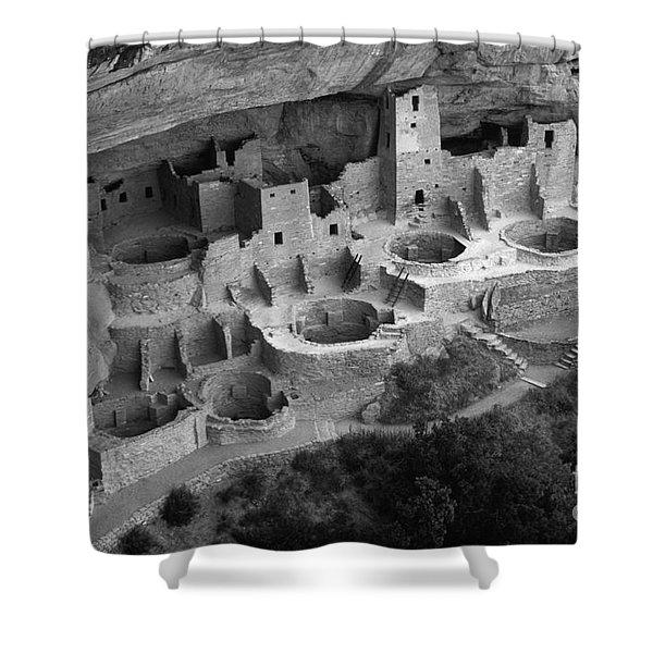 Mesa Verde Monochrome Shower Curtain by Bob Christopher