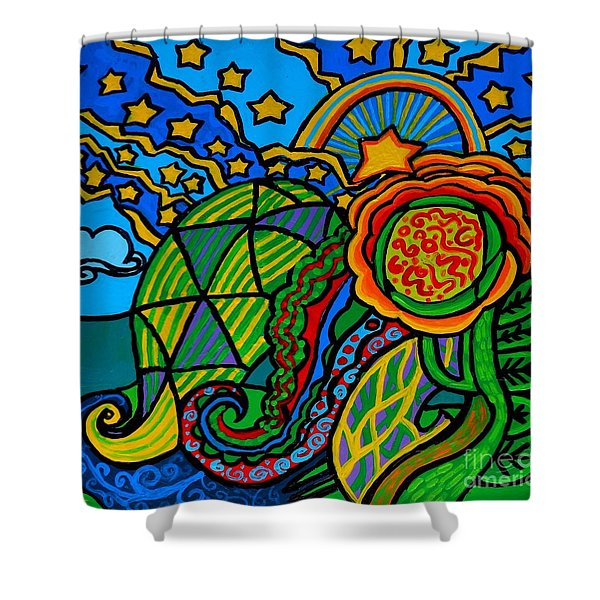 Metaphysical Starpalooza Shower Curtain by Genevieve Esson