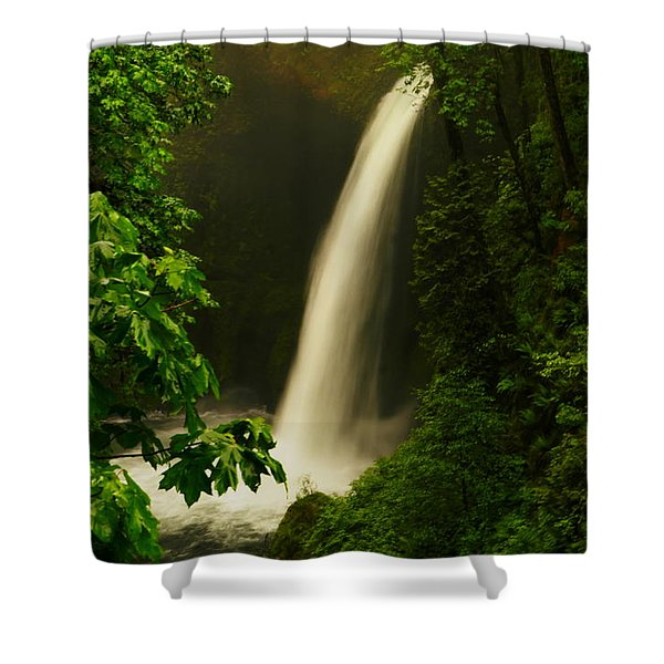 Metlako Falls Shower Curtain by Jeff  Swan
