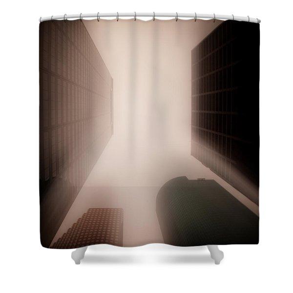 Metropolis Shower Curtain by Dave Bowman