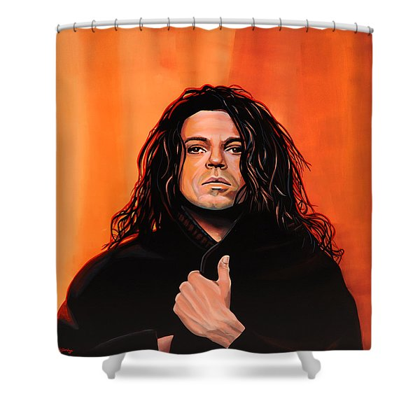 Michael Hutchence Shower Curtain by Paul  Meijering