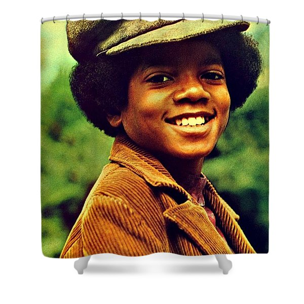 Michael Jackson Shower Curtain by Movie Poster Prints