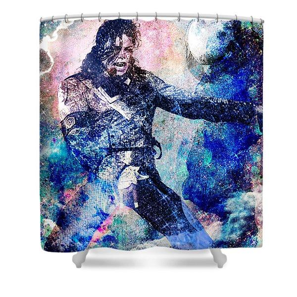 Michael Jackson Original Painting  Shower Curtain by Ryan RockChromatic