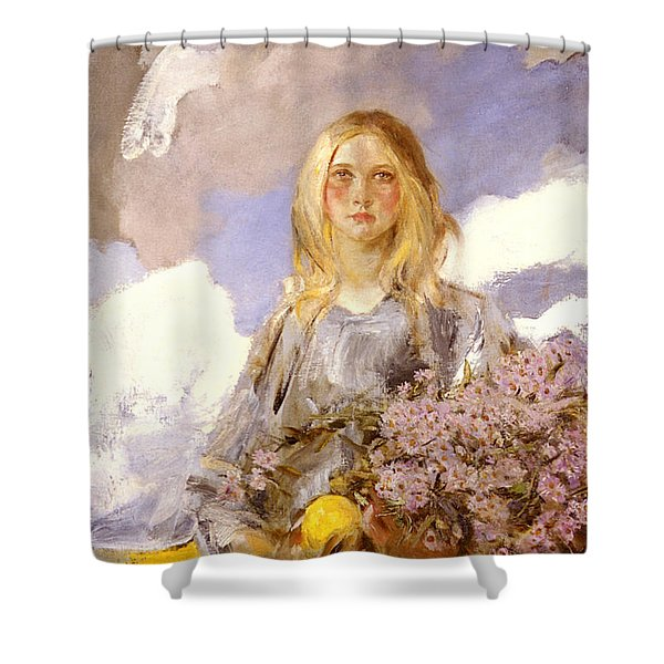 Michaelmas Shower Curtain by James Shannon