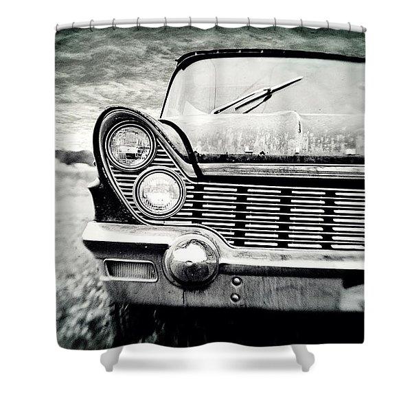 Midnight Ride 2 Shower Curtain by Scott Pellegrin
