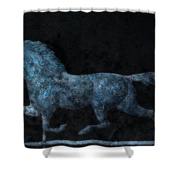 Midnight Run - Weathervane Shower Curtain by John Stephens