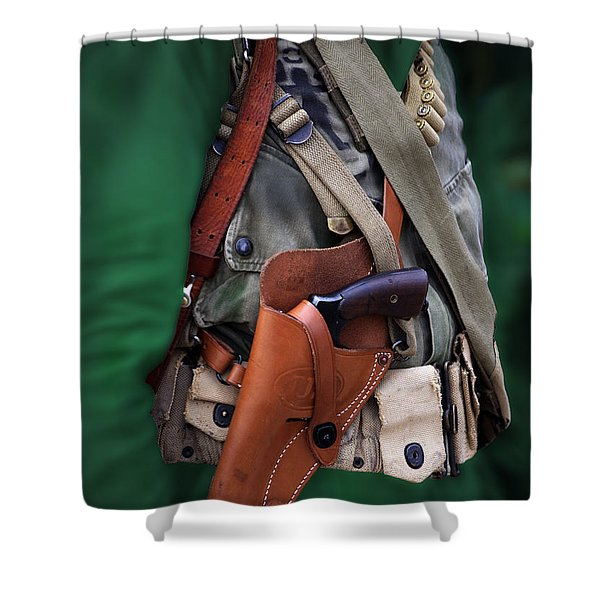 Military Small Arms 02 WW II Shower Curtain by Thomas Woolworth