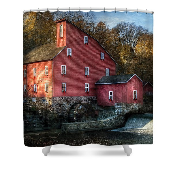 Mill - Clinton Nj - The Old Mill Shower Curtain by Mike Savad