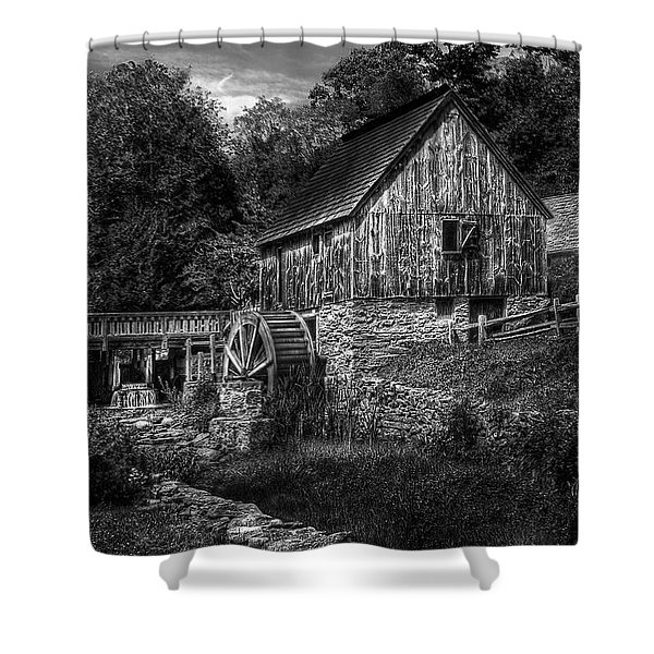 Mill - The Mill Shower Curtain by Mike Savad