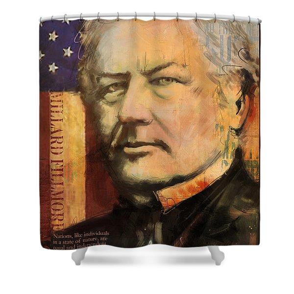 Millard Fillmore Shower Curtain by Corporate Art Task Force