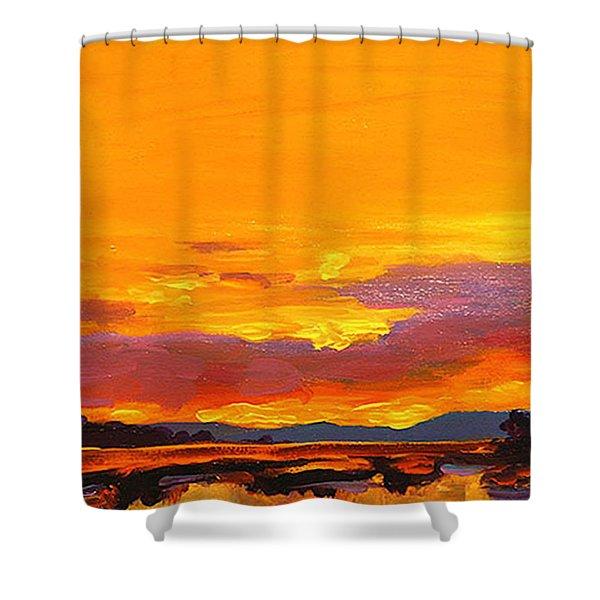 Mimosa Sunrise Shower Curtain by Mike Savlen