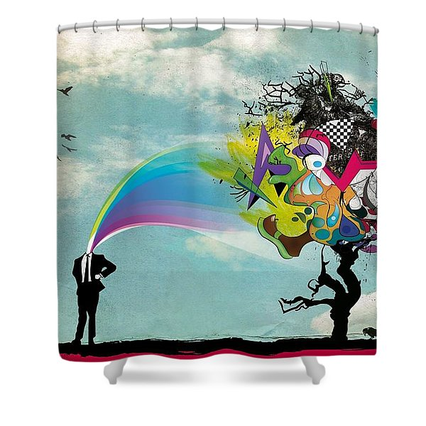 Mind Outburst Shower Curtain by Gianfranco Weiss