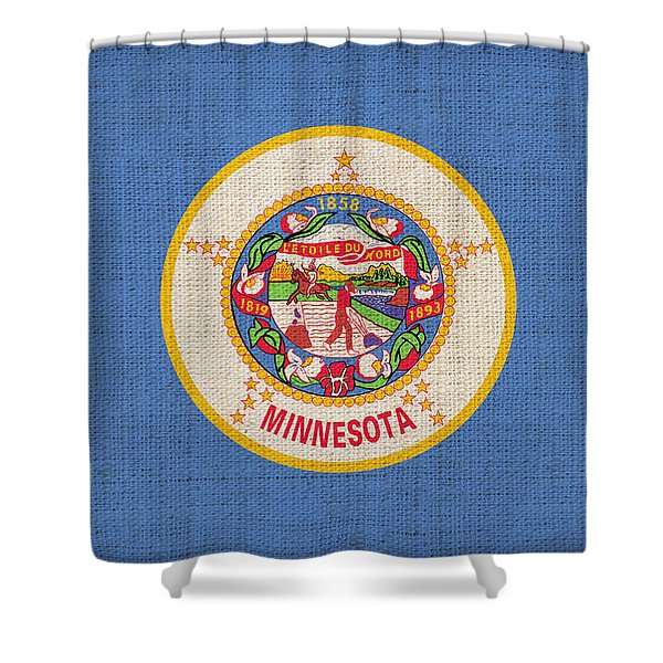 Minnesota state flag Shower Curtain by Pixel Chimp