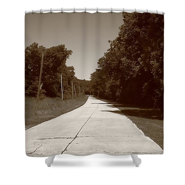 Missouri Route 66 2012 Sepia. Shower Curtain by Frank Romeo