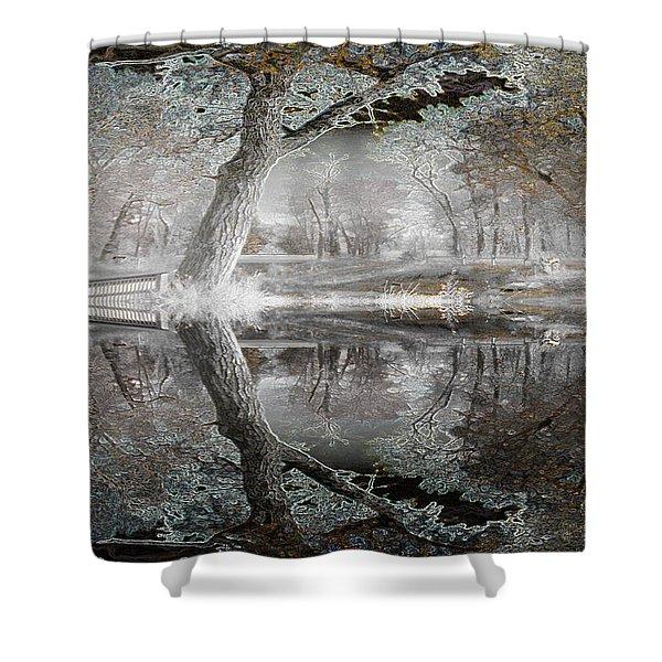 Misty Morn 1 Shower Curtain by Stuart Turnbull