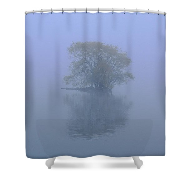 Misty Morning At Jamaica Pond Shower Curtain by Juergen Roth
