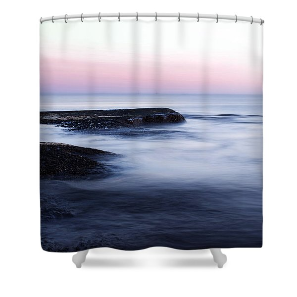 Misty Sea Shower Curtain by Nicklas Gustafsson